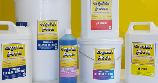 crystal pools chemicals